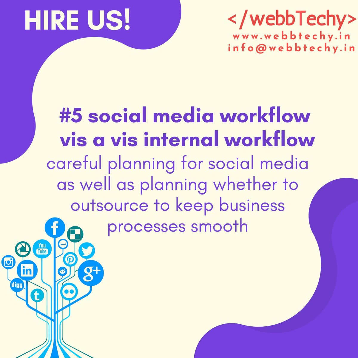 Replying to @TechyWebb: choosing the right #SocialMedia channels for your #business   #5 social media workflow vis a vis internal workflow  #Trending #Trends #trendingtopic #TrendingNow #mondaythoughts #MondayMotivation #Facebook #linkedIn #Instagram #twitter #Yo…
