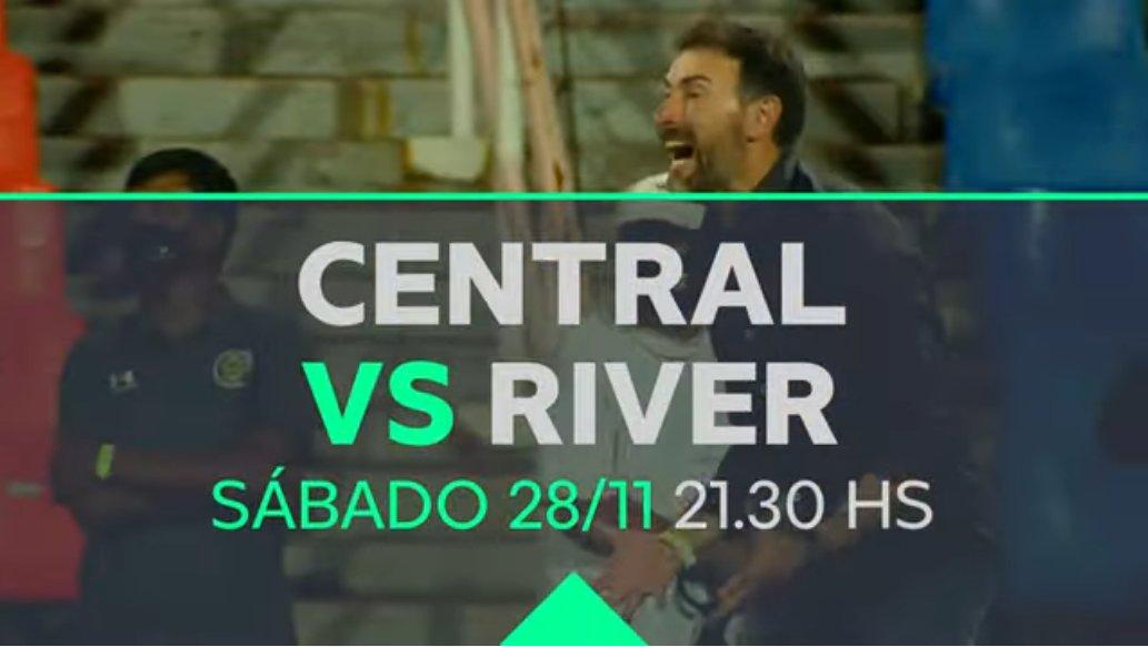 Copa Maradona 21:30 #RosarioCentral vs River Plate TNT Sports Arbitro: Fernando Echenique  Miño; Martínez, Laso, Novaretti, Bottinelli, Blanco; Villagra, Rinaudo; Vecchio; Ferreyra, Gamba  ATENTOS AL PARTIDO 👇🧐 21:30 Godoy Cruz vs Banfield FOX Sports Premium https://t.co/1BTyJPYDEJ