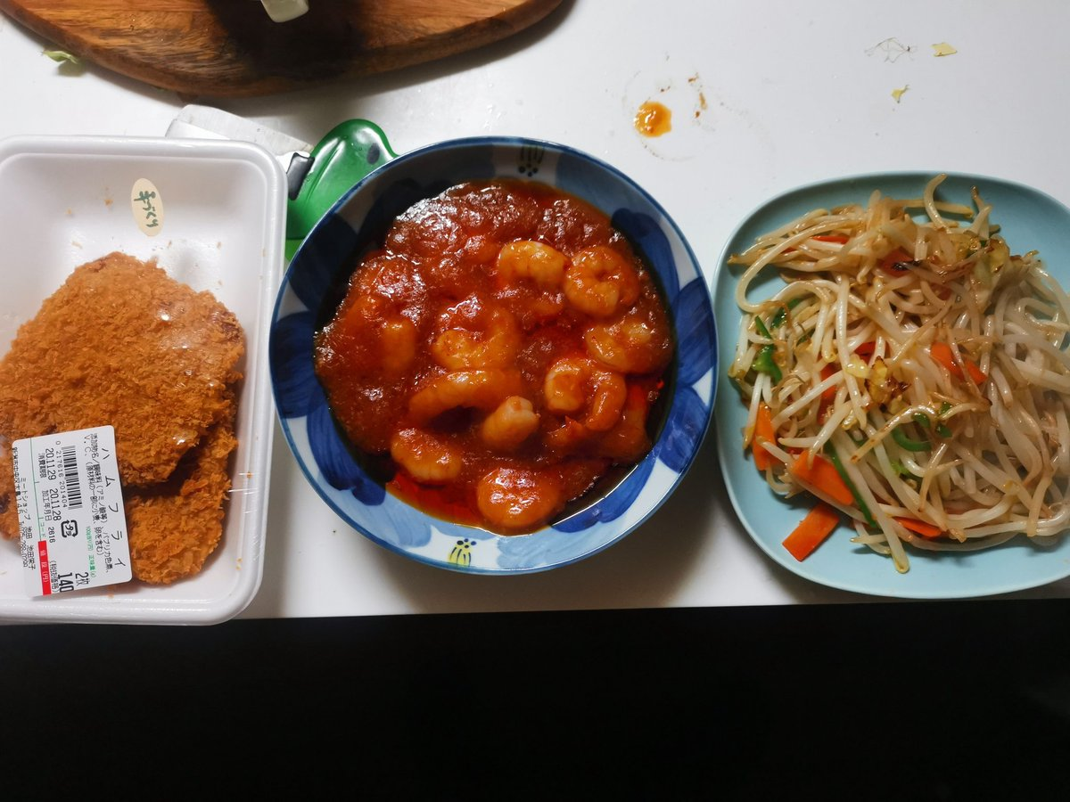 本日はレジスタンス時代の@rooty_ch弟(長男)が1年ぶりに我が家に来て二人で外食するので妻の飯はさっと作り置き