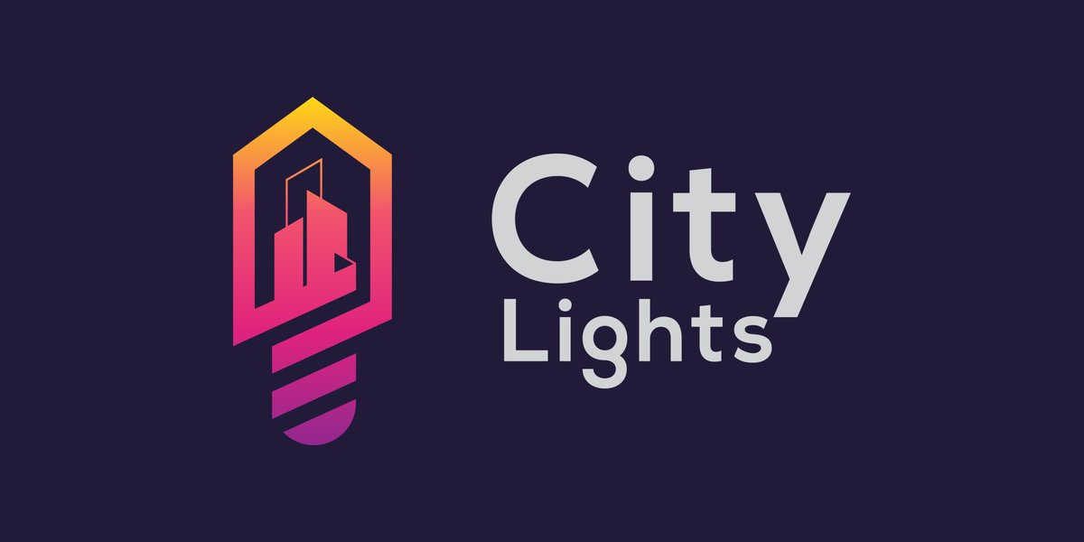 City Lights Logo ( City Buildings + Smart Bulb Icon ) I would love to hear your feedback on this design. ------------- DM me for business inquiries - Mail- sanaullahujjal@gmail.com WhatsApp/Skype- +8801792993510  #logo #design #branding  #graphic #Designer #catsforcorpse