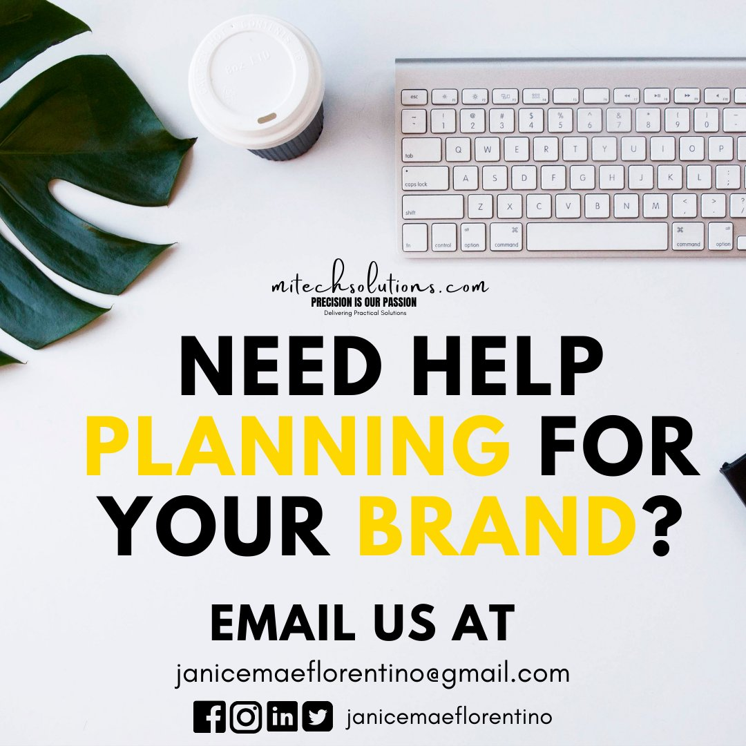 Create your brand with us. Contact us at janicemaeflorentino@gmail.com Follow us on Twitter, Facebook, Instagram, and Linkedin. #Branding #SocialMediaMarketing #SocialMediaManagement #Advertising