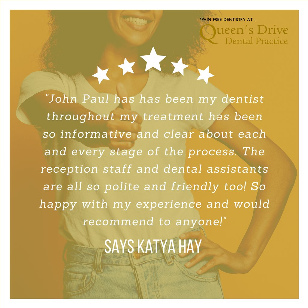 #SuccessStories - See What Our Patients Say About Their Treatment From Queen's Drive.  Visit our website for more Success Stories https://t.co/THDQHMEHe4  #dentistry #glasgow #happy #dentist #painfreedentistry #queensdrive #queensdrivedentalpractice #review #testimonial https://t.co/vOPOMDRIuC