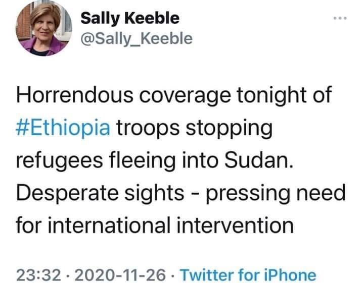 Urgent international military intervention is needed to stop the ongoing Ethiopian state sponsored genocide against the people of Tigrai.  #UNSC  #HumanRights  #UNHCR #AmnestyInternational   #NobelPrize  #ICC https://t.co/Iar8AWWefq