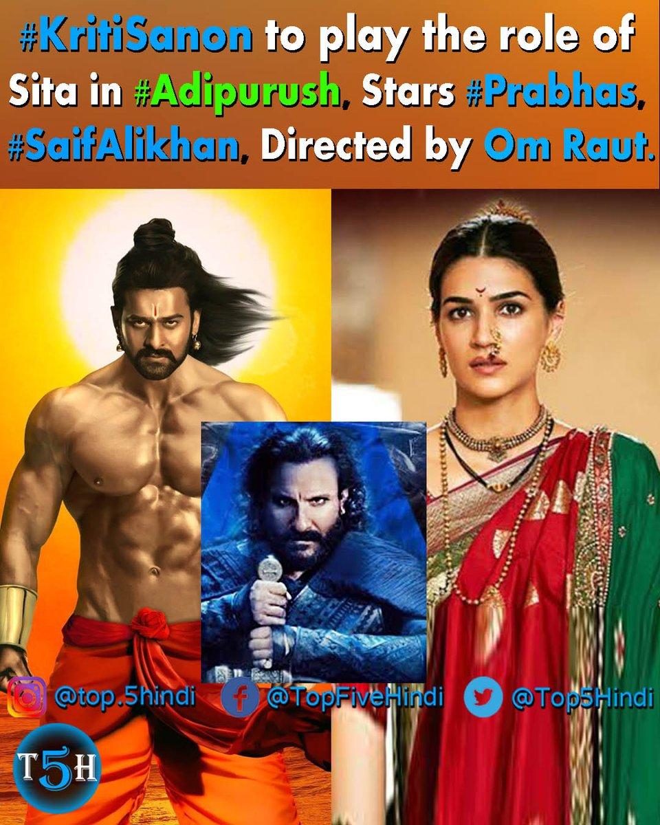 #KritiSanon to play the role of #Sita in #Adipurush, Stars #Prabhas, #SaifAlikhan, Directed by Om Raut.  #SidK @omraut #BhushanKumar #KrishanKumar @vfxwaala  @rajeshnair06 @TSeries @retrophiles1