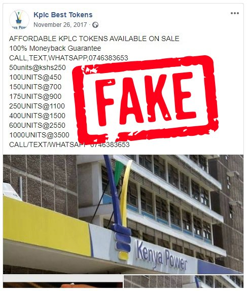 #FridayThoughts Beware of Fraudsters targeting KPLC customers. RT Widely. https://t.co/6C3rkhuDjE