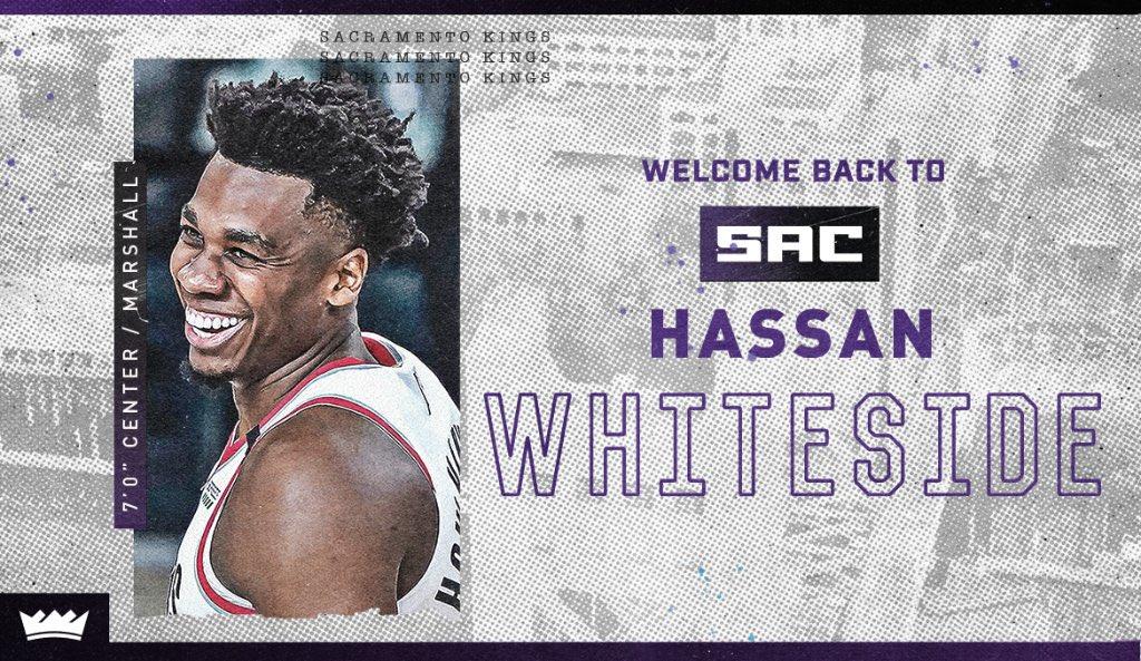 OFICIAL: Hassan Whiteside, nuevo jugador de los Sacramento Kings.  El pívot firma una temporada por el mínimo de veterano y llevará el dorsal 20, que hasta ahora era propiedad de Harry Giles. https://t.co/EgtLtAdyCe