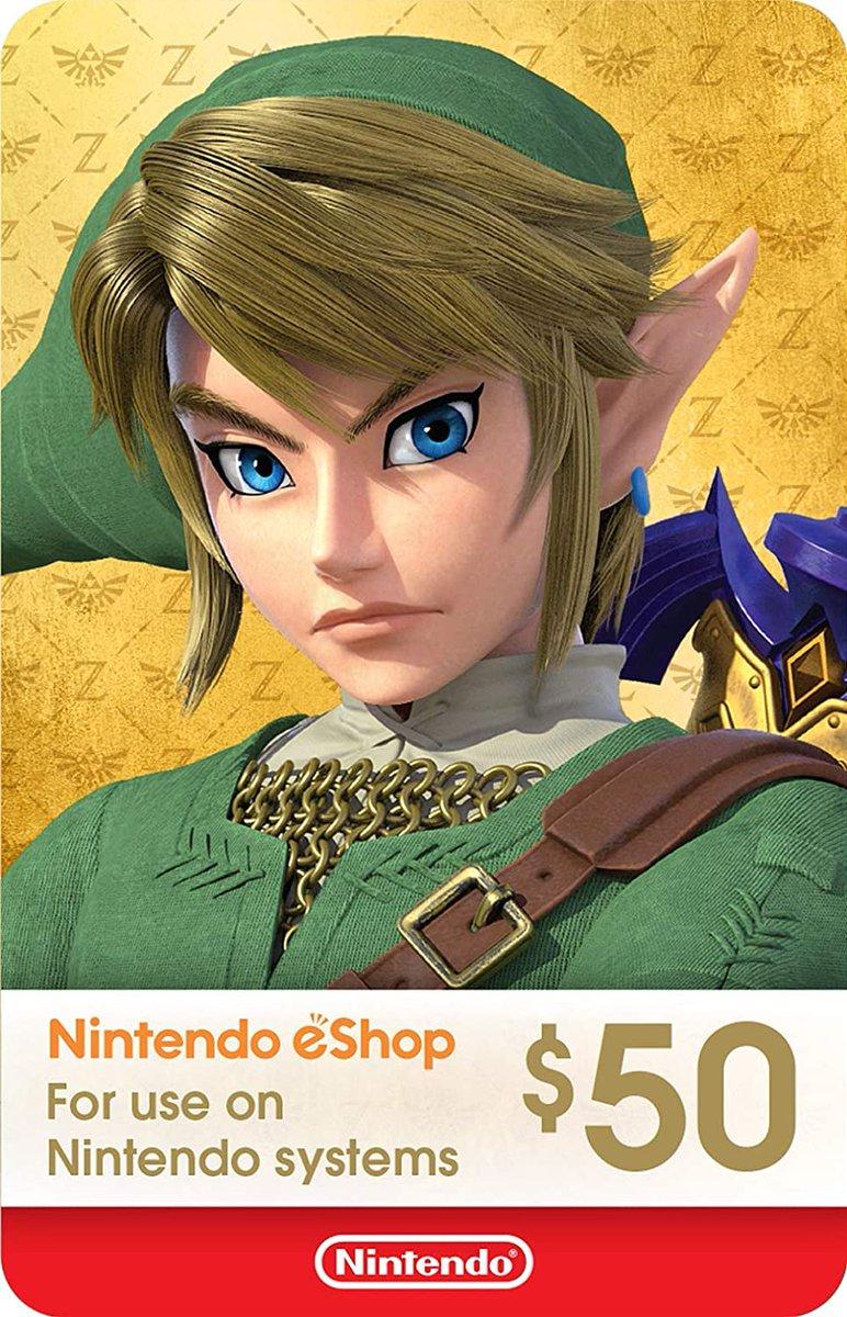 $50 Nintendo eShop Gift Card digital code is $45 on Amazon amzn.to/3qb02pW