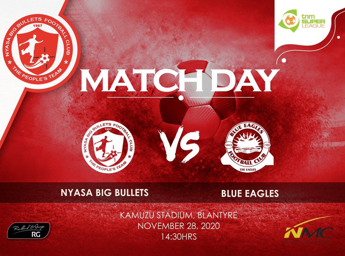 #TNMSuperLeague2021 Match Day 1  🆚 Blue Eagles 🗓️ Today, 28 Nov 2020 🏟️ Kamuzu Stadium, Blantyre 🕝 14:30Hrs 📺 Mibawa TV  NB: All Covid-19 preventive measures will be strictly observed! #StaySafeStayHealthy  #YesMaule #MaNyasa 🔴🔴 https://t.co/6HbX6NdVZ8