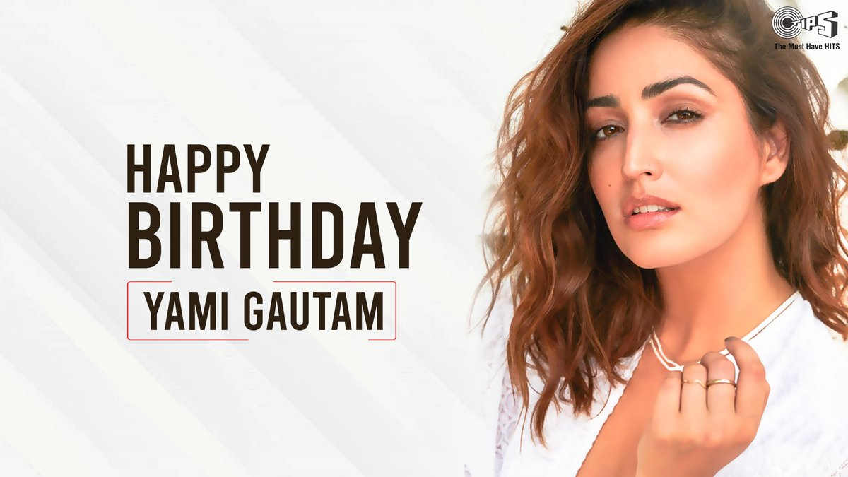 .@tipsofficial wishes the exceptionally talented #BhootPolice actress, @yamigautam a very Happy Birthday! ❤️  #HappyBirthdayYamiGautam #YamiGautam