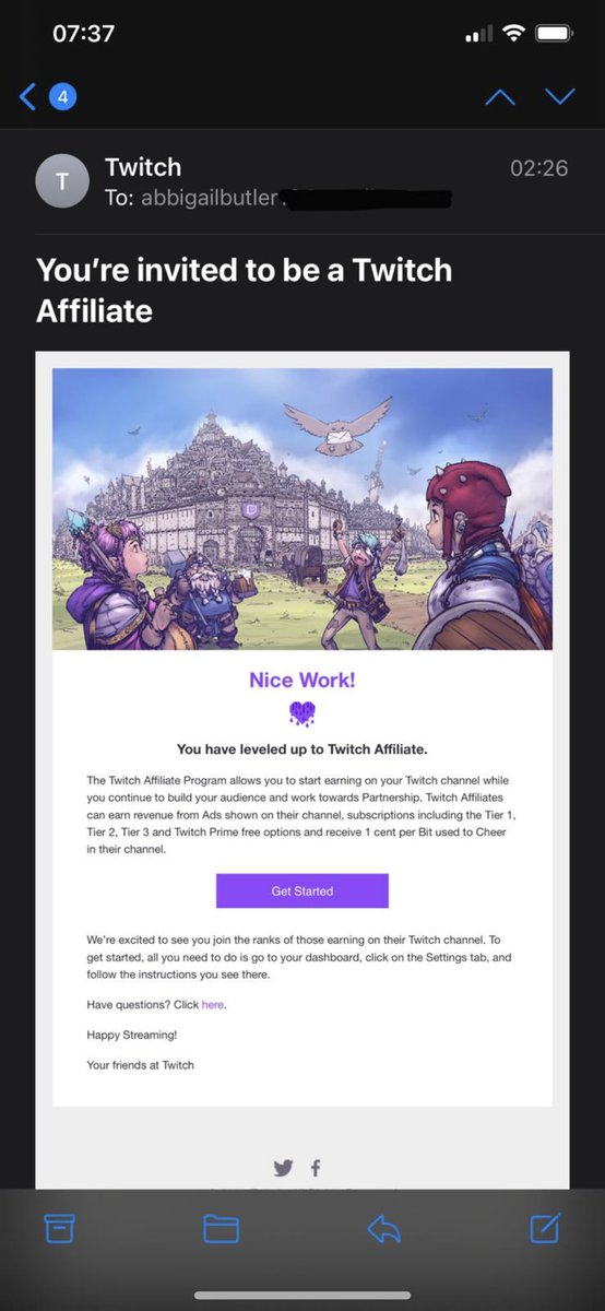 To everyone who watched last night and my followers thank you so much! Due to my stream last night I hit Twitch Affiliate! I love you all!!! #DreamsStartHere #SupportSmallStreamers #gaming #RazerStreamer #twitchaffiliate #TwitchStreamers #RazerStreamer