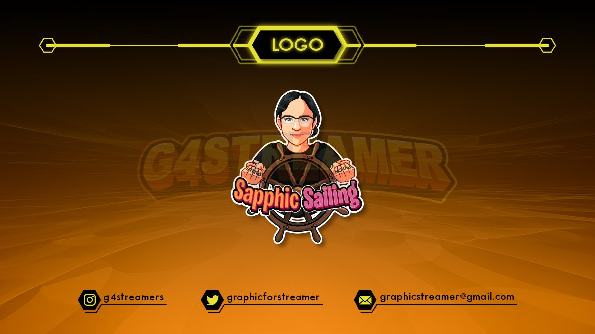 Make your own logo concept that presents yourself!! 😍😍😍 Here's our work for SAPPHIC SAILING 🔥🔥🔥  Interested in putting any new designs and animations to your streams? DM for pricee 😜😜😜 #twitch #twitchstreamer #twitchaffiliate #TwitchStreamers #gamergirl #artists #Fiverr https://t.co/aLapIJ0jDv