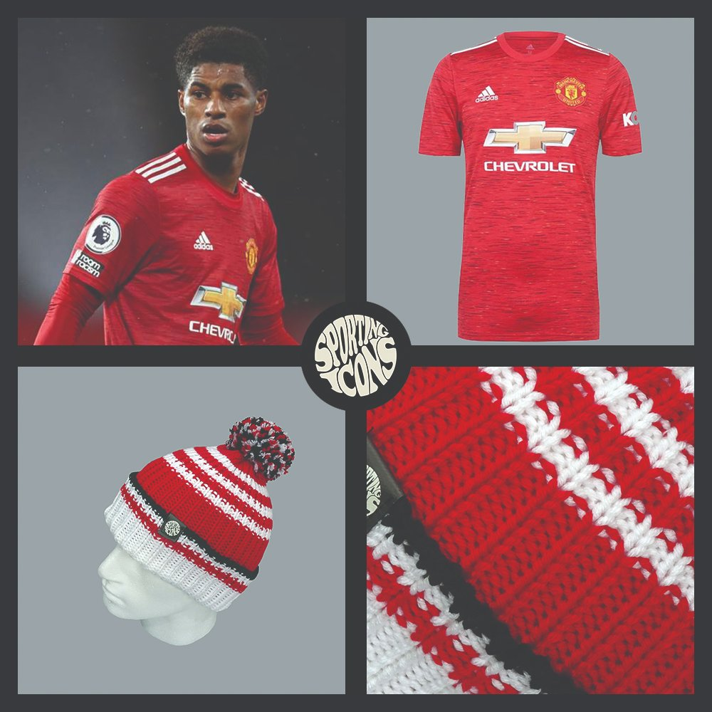 We launched our Rashford bobble hat last week and it's selling fast  - Made in the UK - Limited edition - only 50 have been made - % of profits from each sale are donated to @GFoodbank   https://t.co/Weq2mJMPNC  #MUFC #ManUtd #ManchesterUnited #UTFR https://t.co/SVGlyvAtV6