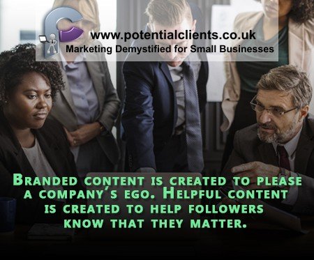 But if the content is good a little branding can't hurt! #branding, #ur_potential #small business.  If you're looking for a free listing in our directory check out  @ur_potential