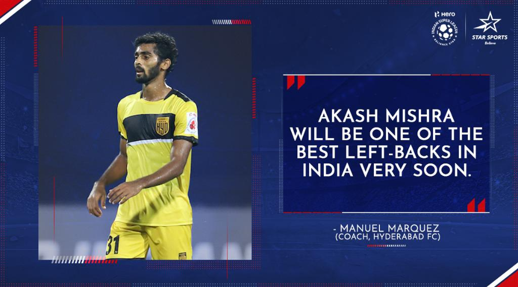 The sky's the limit for Akash! 👊 Excited to watch the young 🇮🇳 defender again, @HydFCOfficial fans?  ⚽️: #BFCHFC ⌛: Tonight, 7:30 PM 📺: Star Sports, Disney+Hotstar VIP & Jio TV