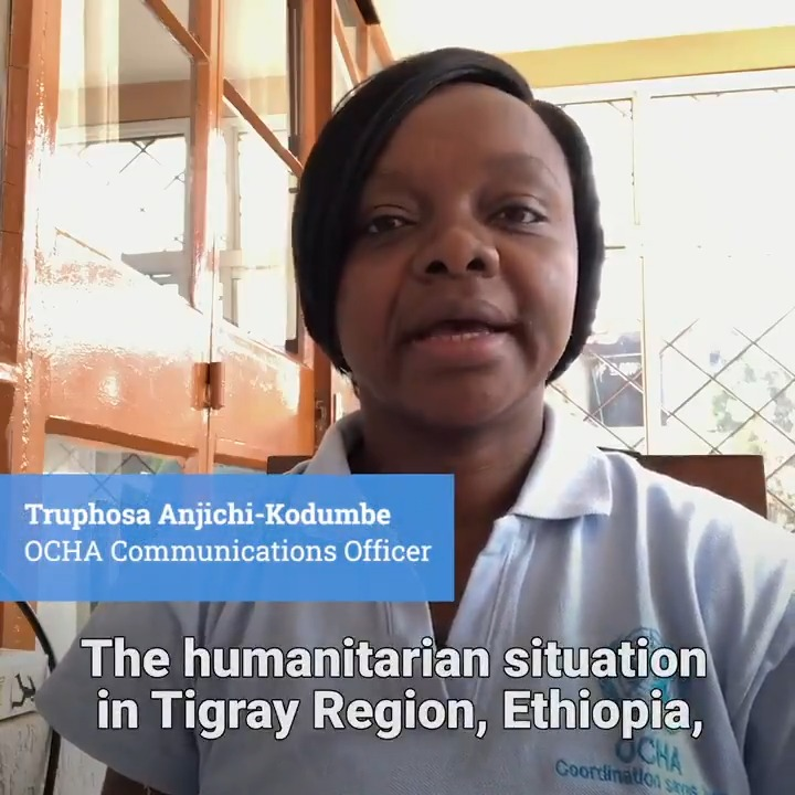 The humanitarian situation in Tigray, Ethiopia remains increasingly critical.  Humanitarians are urging for safe and unimpeded access to provide life-saving aid to the most vulnerable. More from our colleague Truphosa in the region ⤵️