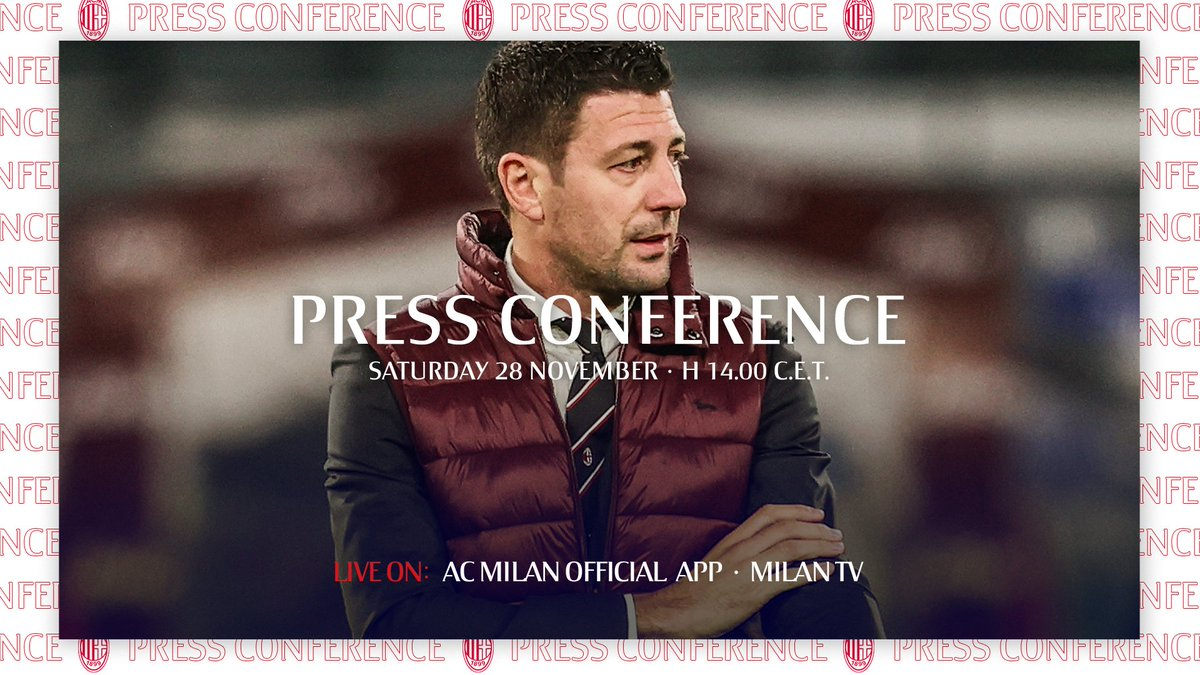 📲  📲 Tune in for Daniele Bonera's presser on the eve of our home game, Live on the app 🕑    La conferenza stampa di Daniele Bonera alla vigilia di #MilanFiorentina, LIVE sulla nostra App 🕑  #SempreMilan