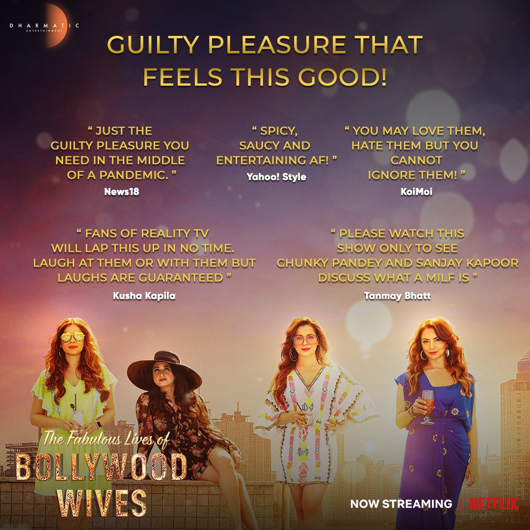 It's binge season! The ultimate guilty pleasure that makes you feel fabulous, is now streaming on #Netflix!✨#FabulousLives  @maheepkapoor @neelamkothari @seemakkhan @bhavanapandey @netflixindia @apoorvamehta18 @aneeshabaig @scrappypants #UttamDomale