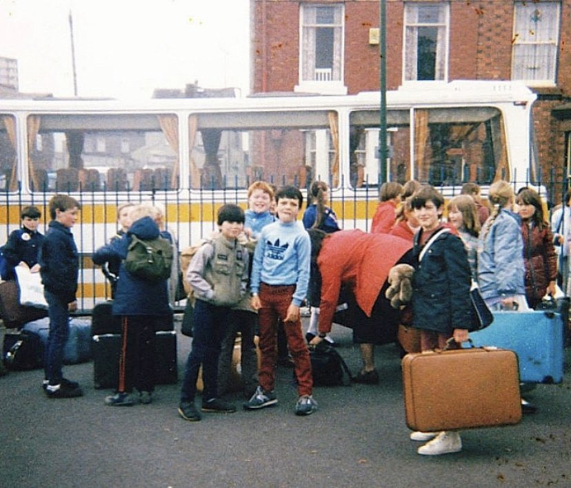 School Trip to Llandudno. St Thomas C of E School. Seaforth, Liverpool, 1984. Photo submitted by Jonathan Ainscough.