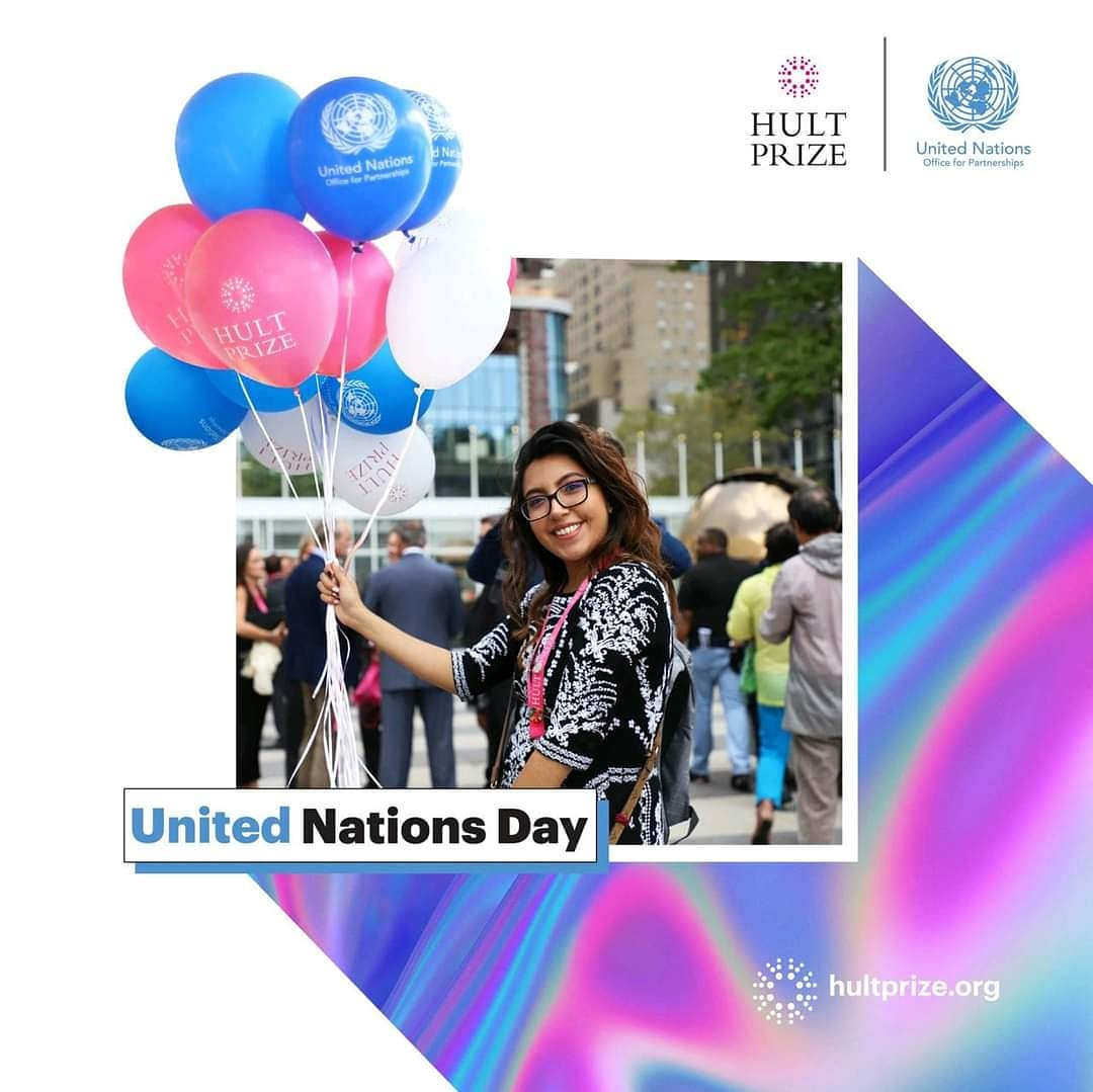 Saturday is #UNDay!🤩 Today, the @unitednations mark 75 years of working for people everywhere!🥳🎈  #HappyBirthday UN! 🎉We're excited to celebrate this special day with you!💫 #UN75 #UNDay #unitednations #HultPrize