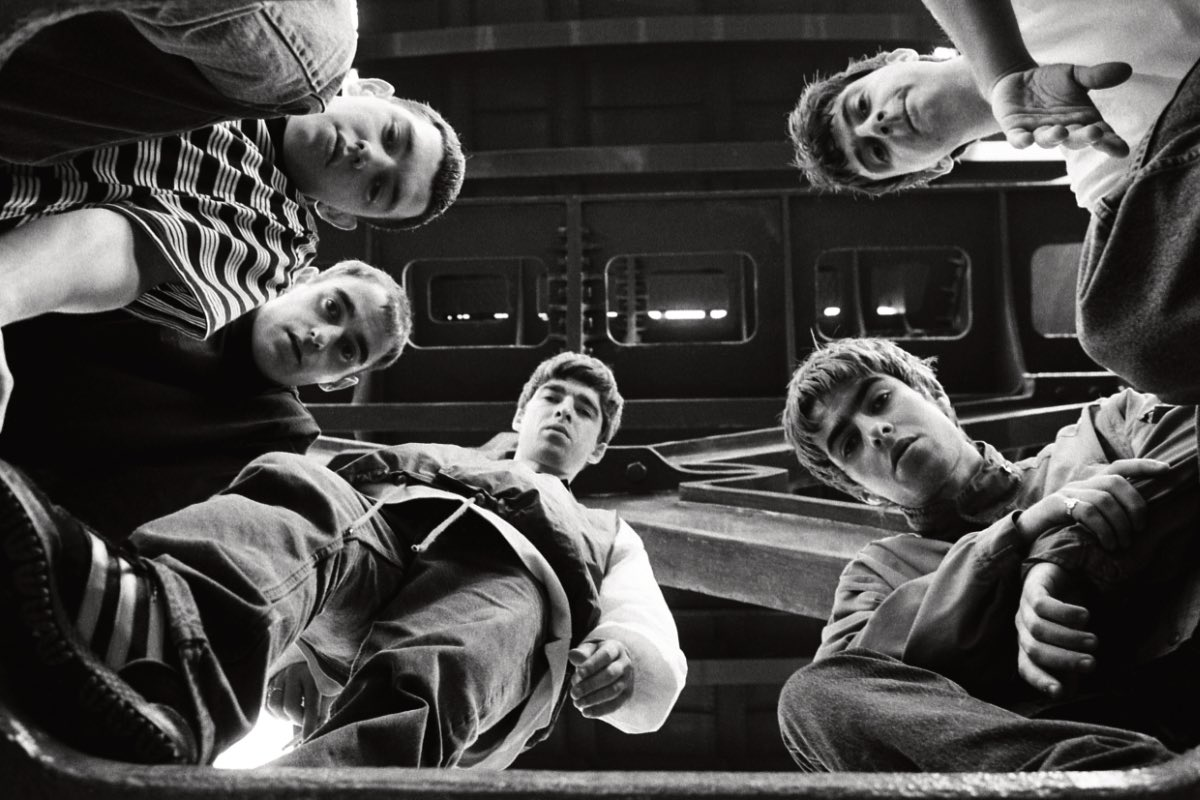 An unsigned Oasis on their first photo shoot. Castlefield, Manchester, 1992. Photo © Peter J Walsh. Available as an A3 archival print from our online shop. britishculturearchive.co.uk/product-catego…