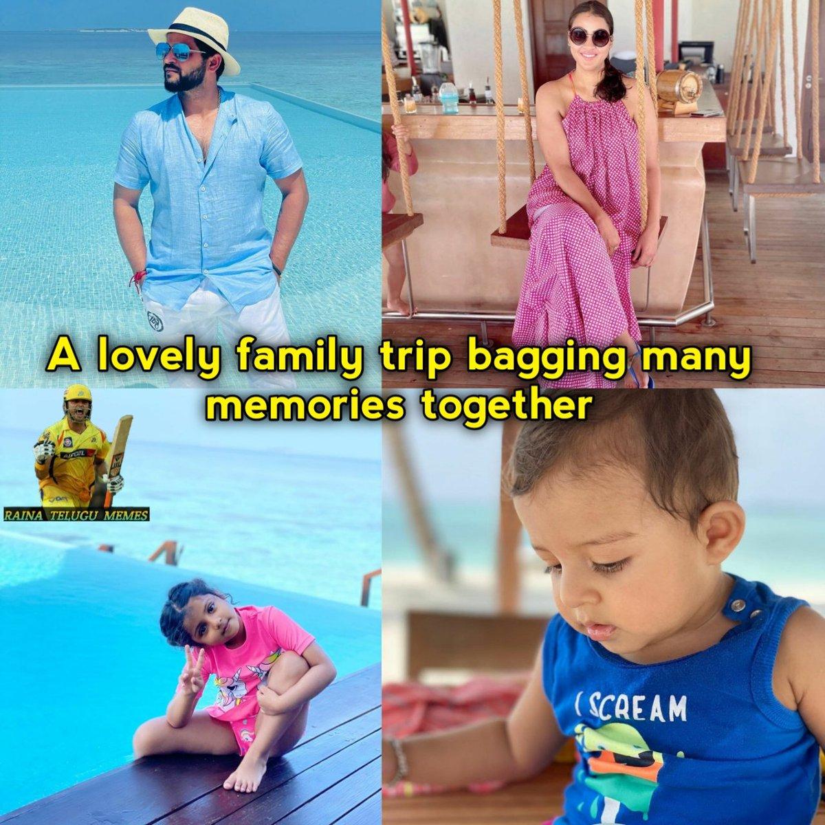 Family ❤ #sureshraina #raina #chinnathala #mripl #priyankaraina #graciaraina #rioraina