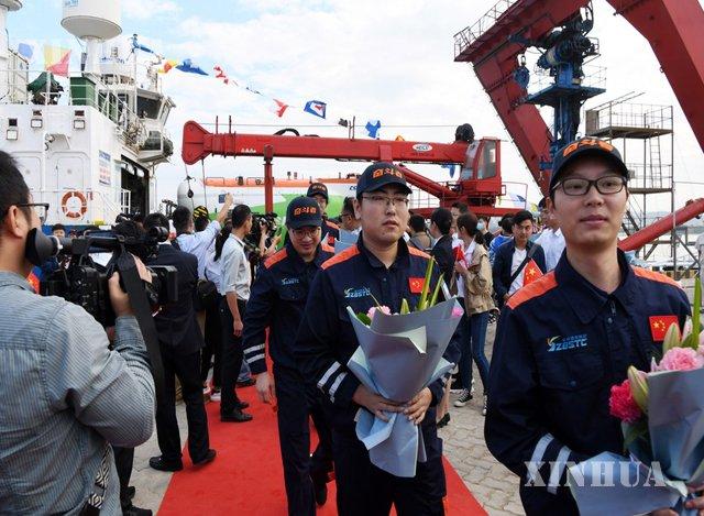 #တရုတ် နိုင်ငံ၏ လူလိုက်ပါနိုင်သော ပင်လယ်ရေအောက်သွား #ရေငုပ်သင်္ဘော အသစ် #Fendouzhe (Striver) သမုဒ္ဒရာလေ့လာရေးခရီး အောင်မြင်စွာပြီးစီး ဆင်ဟွာ