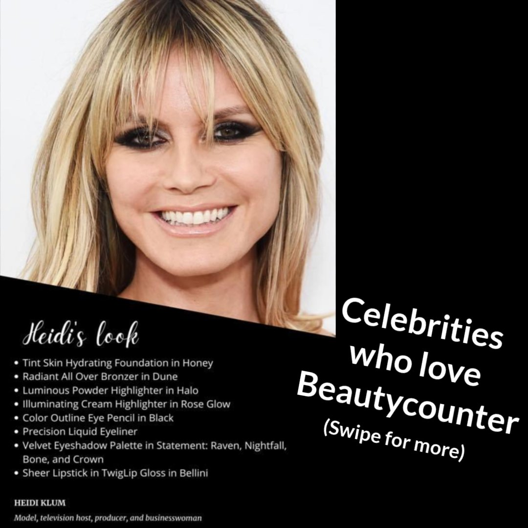 Here are some celebrities who love Beautycounter!   Still on sale: get 15% off plus free shipping on orders over $50!  #crueltyfree #beauty #nontoxicbeauty #nontoxic #crueltyfreebeauty #skincareroutine #GabrielleUnion #ConnieBritton #HeidiKlum #MelissaMcCarthy #GwynethPaltrow