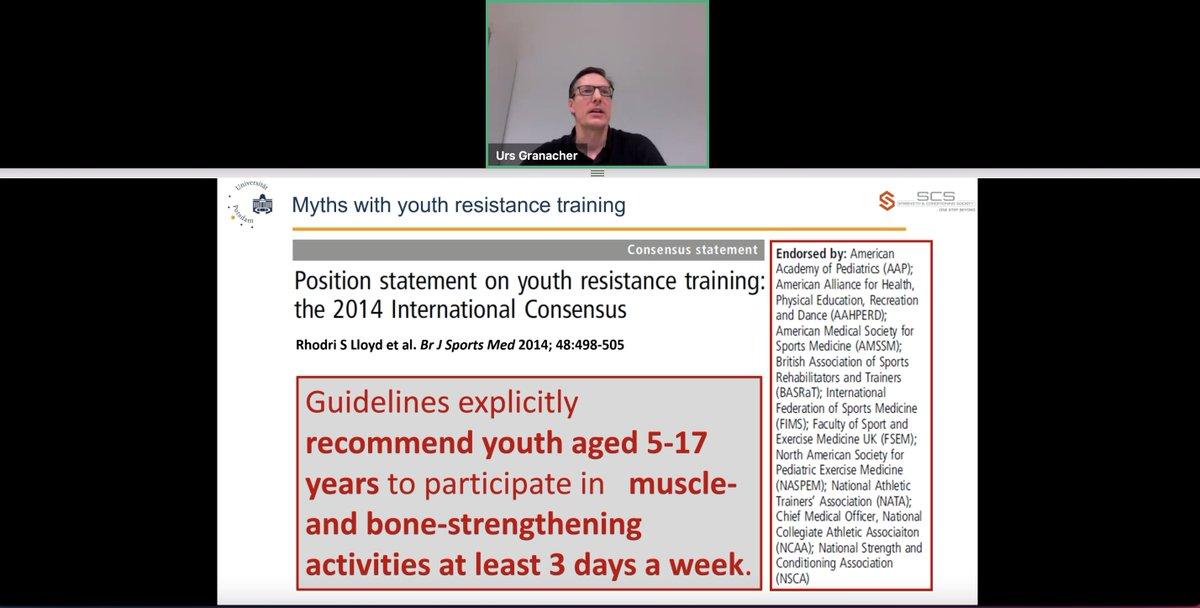 Importance of resistance training in youth - so many benefits!! Great talk from #UrsGranacher & great work from  @DrRSLloyd, @AFaigenbaum, #MelanieLesinski  et al!  @S_C_Society  #LTAD #strength https://t.co/qJEhnLeMla