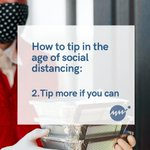 Image for the Tweet beginning: Consider tipping 20-25% when dining