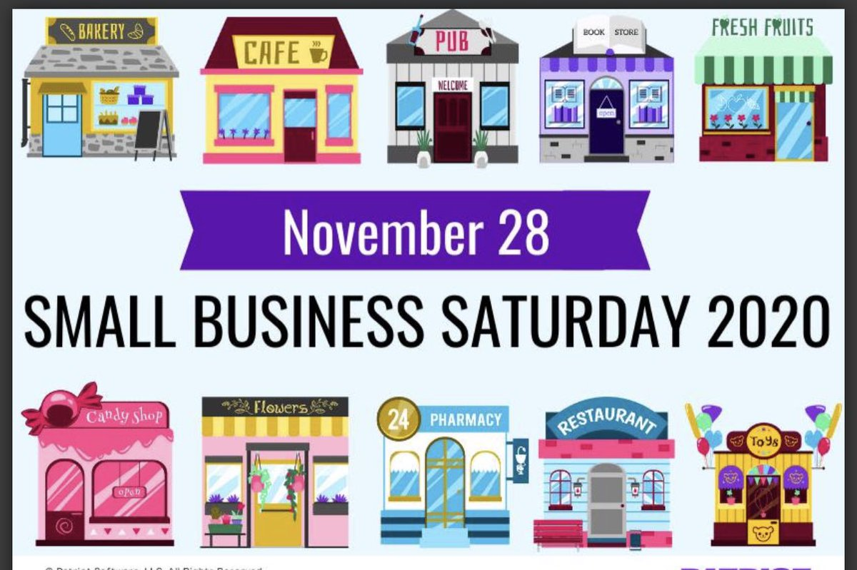 Small business Saturday is important every year but so much more important this year as so many small businesses across our community and country are dealing with the financial implications of COVID.  Keep it local, support your neighbors a d your neighborhood small businesses. https://t.co/wpuO9DUNHi