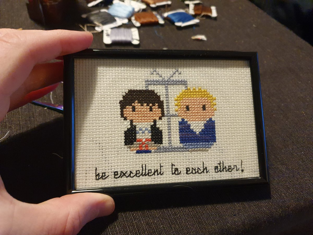 Added a phonebooth to pattern and framed it properly. @BillandTed3 https://t.co/VzAxFuQXPS