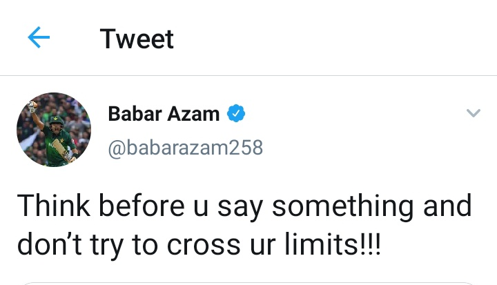 Every Pakistani to that women who is putting serious allegations on Babar Azam.  #BabarAzam