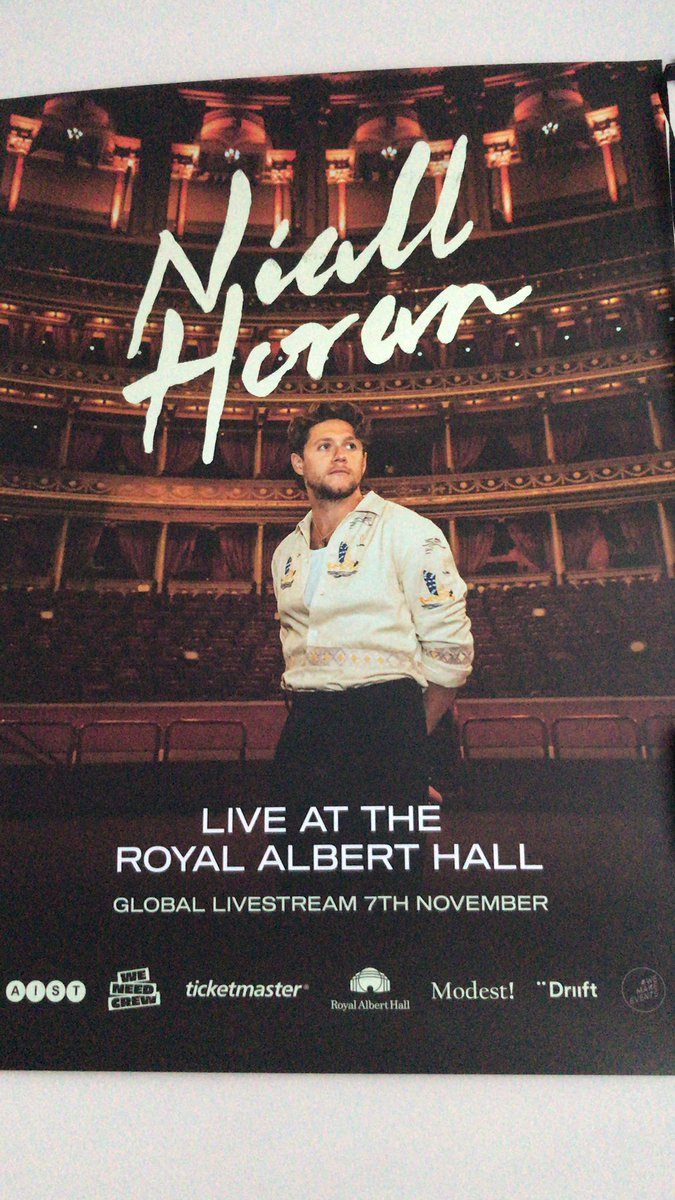 @NiallOfficial @WeNeedCrew  the RAH poster came today! It's amazing. Of course it has to go next to the picture of Niall and @ashemusic and a signed @LewisCapaldi picture. ❤️❤️🥰😊 #weneedcrew