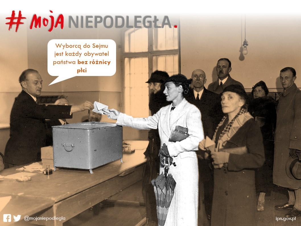 Wyborcą do Sejmu jest każdy obywatel państwa bez różnicy płci   28 listopada 1️⃣9️⃣1️⃣8️⃣ Józef Piłsudski wydał dekret umożliwiający wszystkim obywatelom powyżej 21 roku życia udział w wyborach. https://t.co/th4OZIzFl6