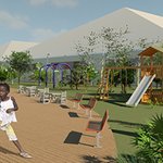 Image for the Tweet beginning: Museo de Renders: Parque para niños