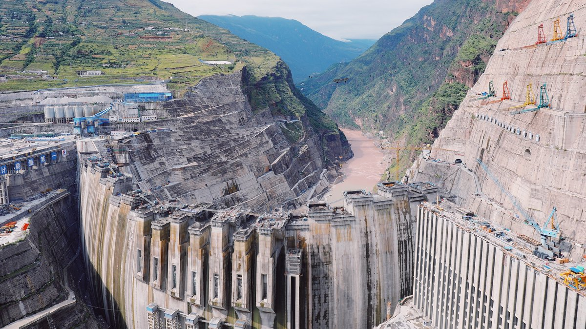 Concrete pouring completed in construction of Baihetan dam
