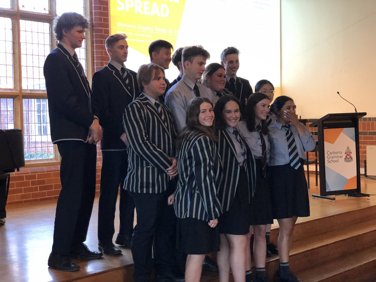 Such a privilege & pleasure to attend Year 12 Valedictory Dinners at @CanberraGrammar: 180 students, 10 houses, 5 nights, 2 venues & 1 great spirit! So glad we could do it in the end to farewell & congratulate the graduates of the year we'll never forget. Admiration & gratitude.
