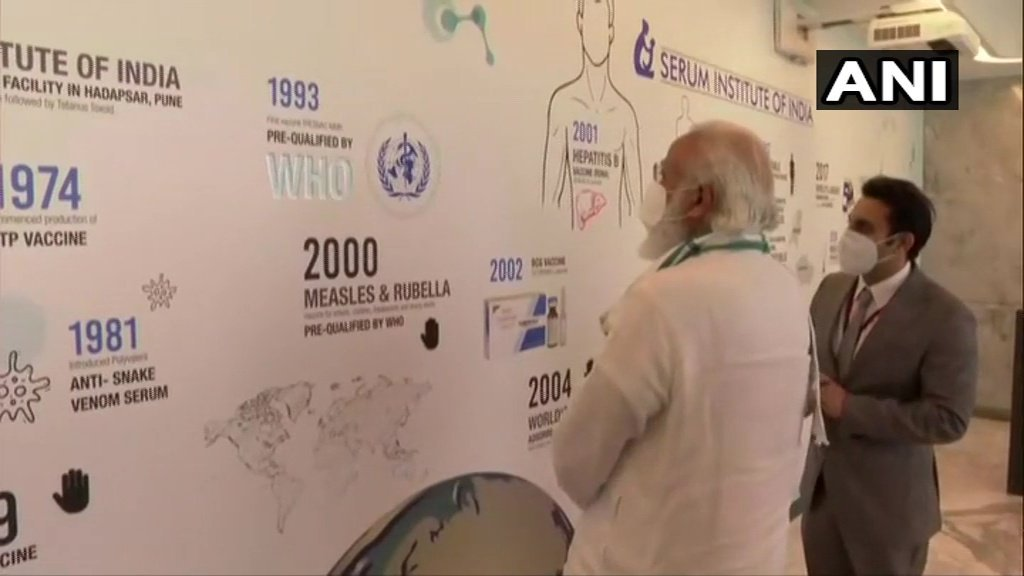 Maharashtra: PM Modi visits Serum Institute of India in Pune to review #COVID19 vaccine development (ANI)