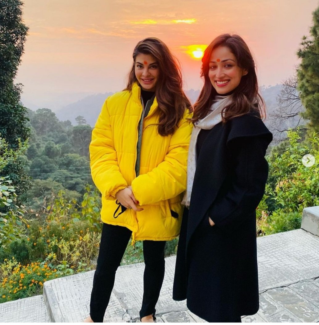 @Asli_Jacqueline today greeted #BhootPolice co star Yami Gautam on hr b'day.#jacquelinefernandez posted pics of herself with Yami in #dharamshala,where #BhootPolice is being shot.'Happy B'day to this wonderful soul!!@yamigautam Thanks fr being such a awesome co-star,'she said.