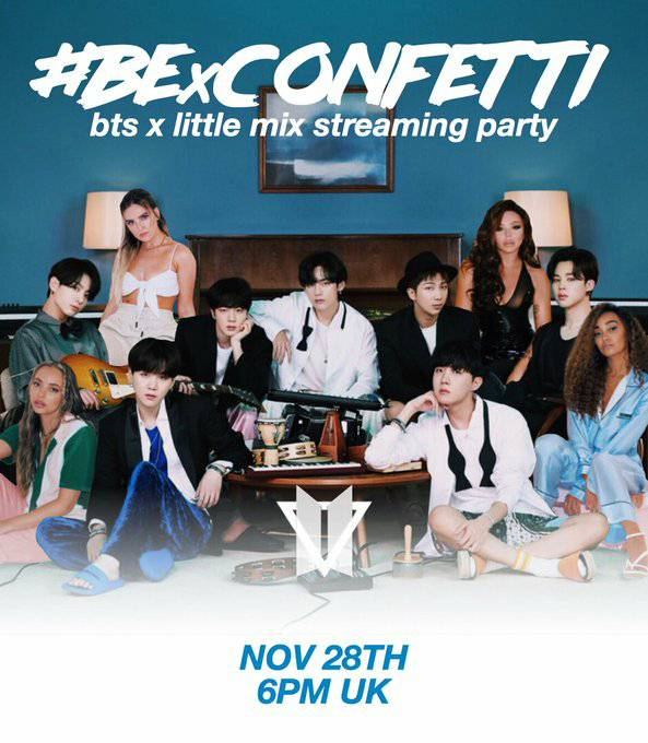 #BTSARMY!   To prepare you for the MASSIVE #BExCONFETTI party  TONIGHT 6pm - 10pm GMT we have put all the playlists in one place!  ⬇️     Join us, #Mixers and party the night away 🥳   #LittleMix #BTS #LifeGoesOn #BE #Confetti #Dynamite #BTSGrammys