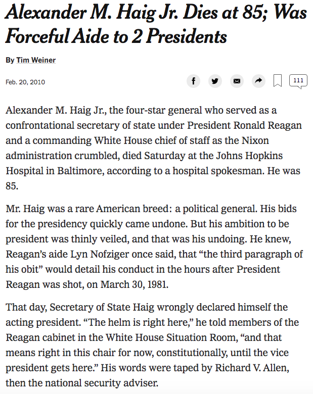 Random, I know, but this 2010 obit of Alexander Haig is so well done nytimes.com/2010/02/21/us/…