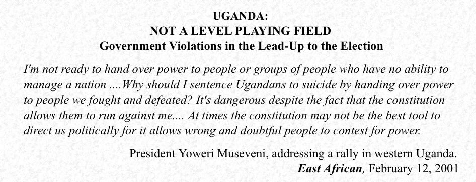 This was President Museveni's view, 19 years ago, about elections in Uganda. It was well captured by the East African newspaper. Has the attitude changed? https://t.co/yGJ8GFx2s8
