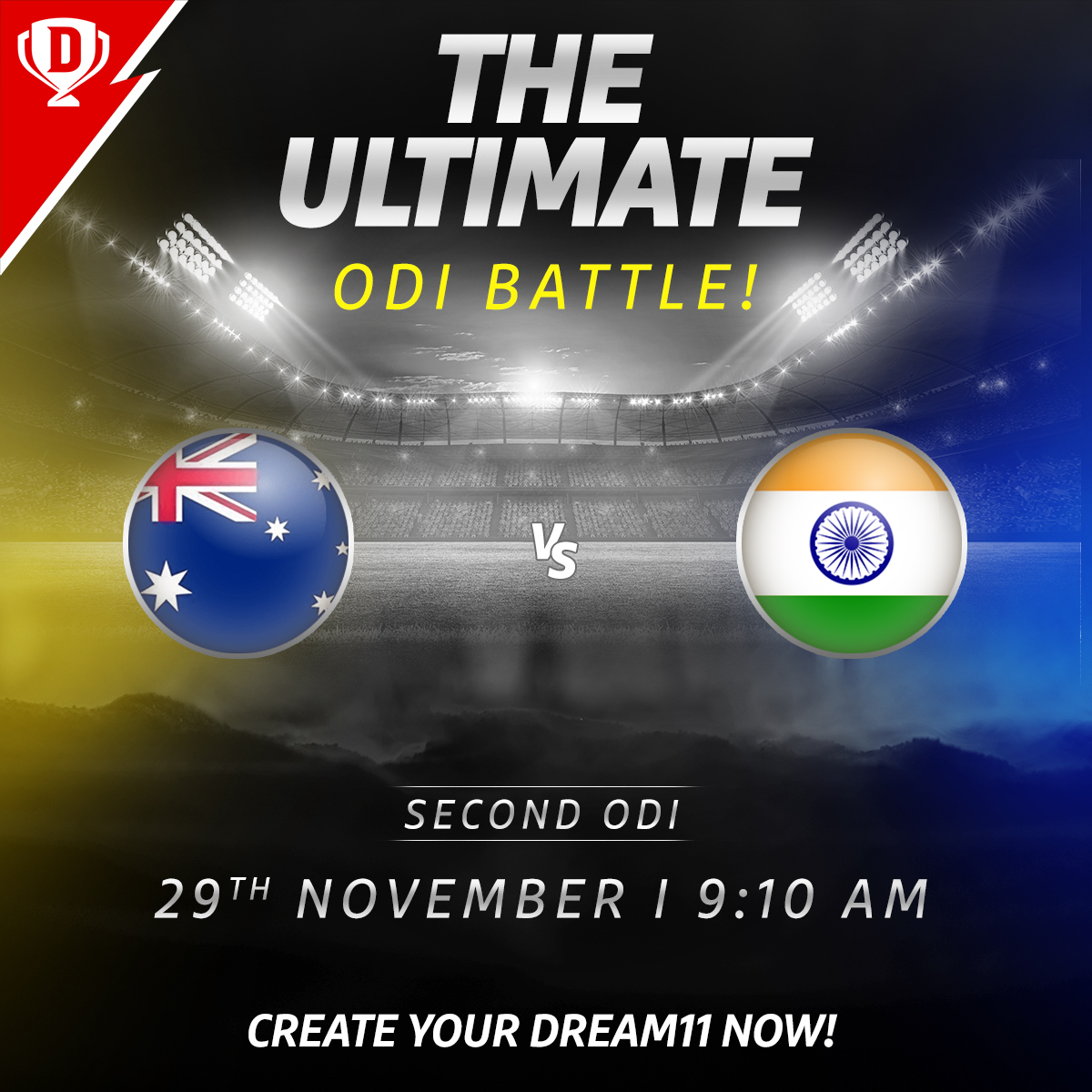 After a loss in the first ODI against Australia, #TeamIndia is all set to take the field tomorrow morning, once again in Sydney ☀️  Download the app and create your #Dream11. Click: . #AUSvIND