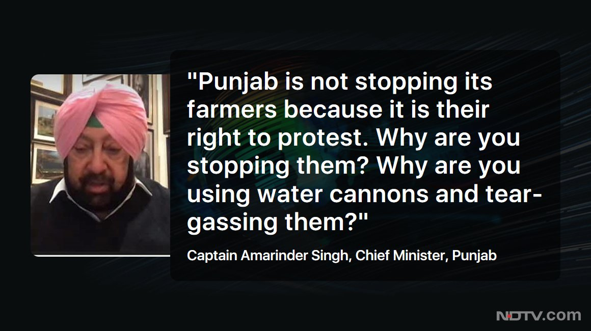 Punjab CM Captain Amarinder Singh hits out at his Haryana counterpart Manohar Lal Khattar   #NDTVExclusive #FarmersProtest