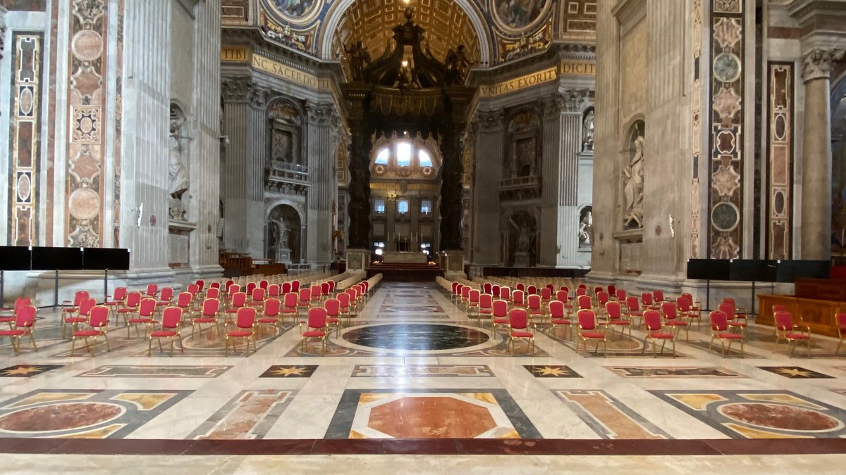 Follow the Ordinary Public Consistory for the creation of new Cardinals - Saint Peter's Basilica at 16 (CET)