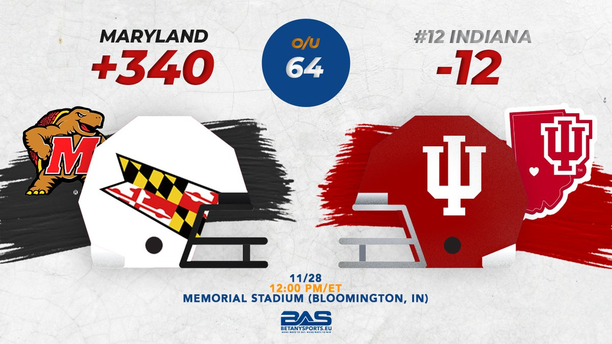 The Maryland #Terrapins are 2-15 ATS in its past 17 games vs ranked conference opponents.  No. 12 Indiana is 5-0 ATS in 2020 & 4-0 ATS in its last 4 as a double-digit favorite. Plus the #Hoosiers are 34-1 SU their last 35 as a double-digit favorite.  #UMDvsIU #FearTheTurtle #IUFB