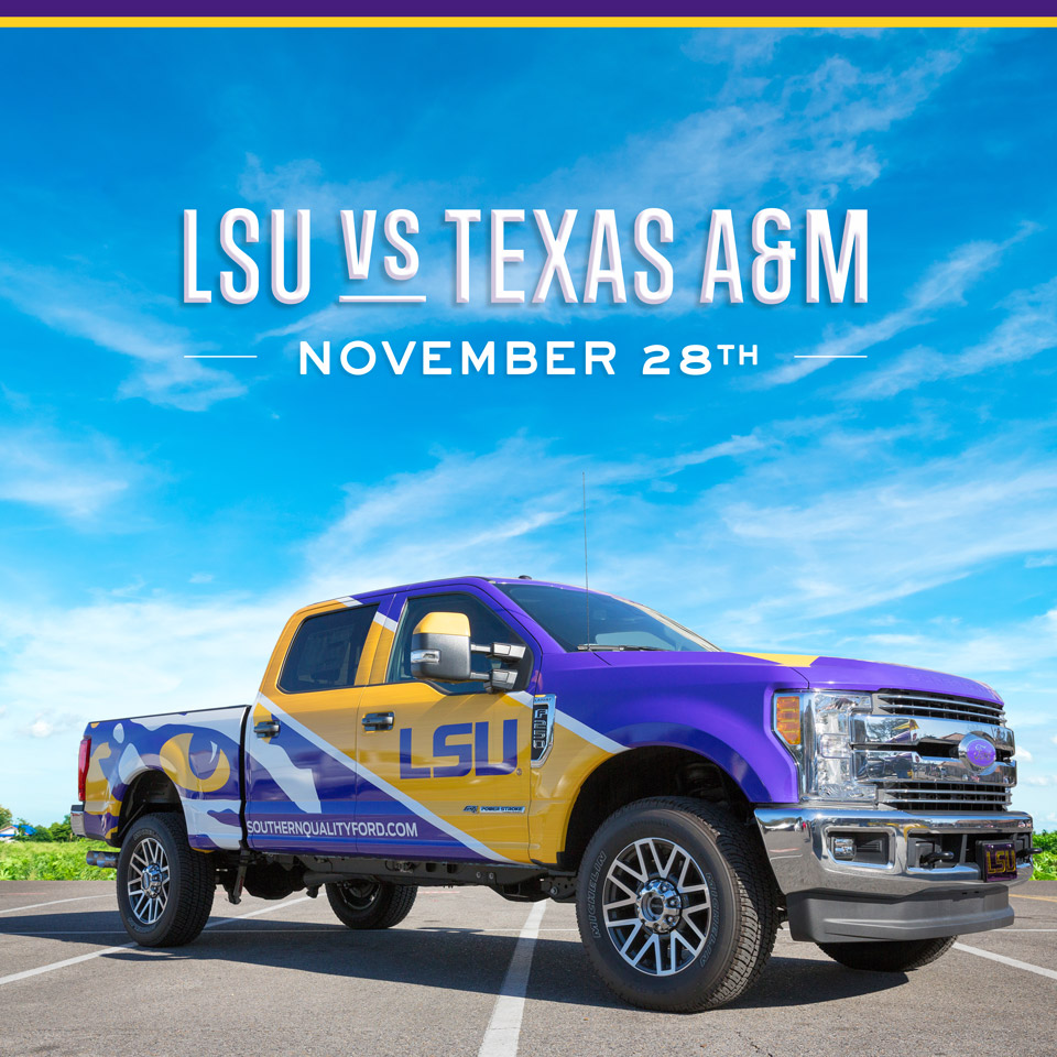 The Saturday after Thanksgiving is the perfect time to enjoy those Turkey Day leftovers and some big college football matchups like LSU vs. Texas A&M. Geaux Tigers! https://t.co/LfDj4ne5jz