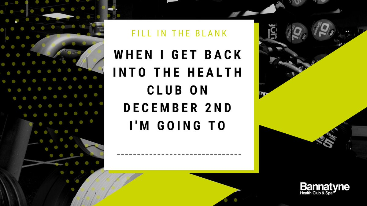 Who's excited to get #back2bannatyne? 🏋️   Fill in the blank in the comment section below! https://t.co/yWg2P8LvNt