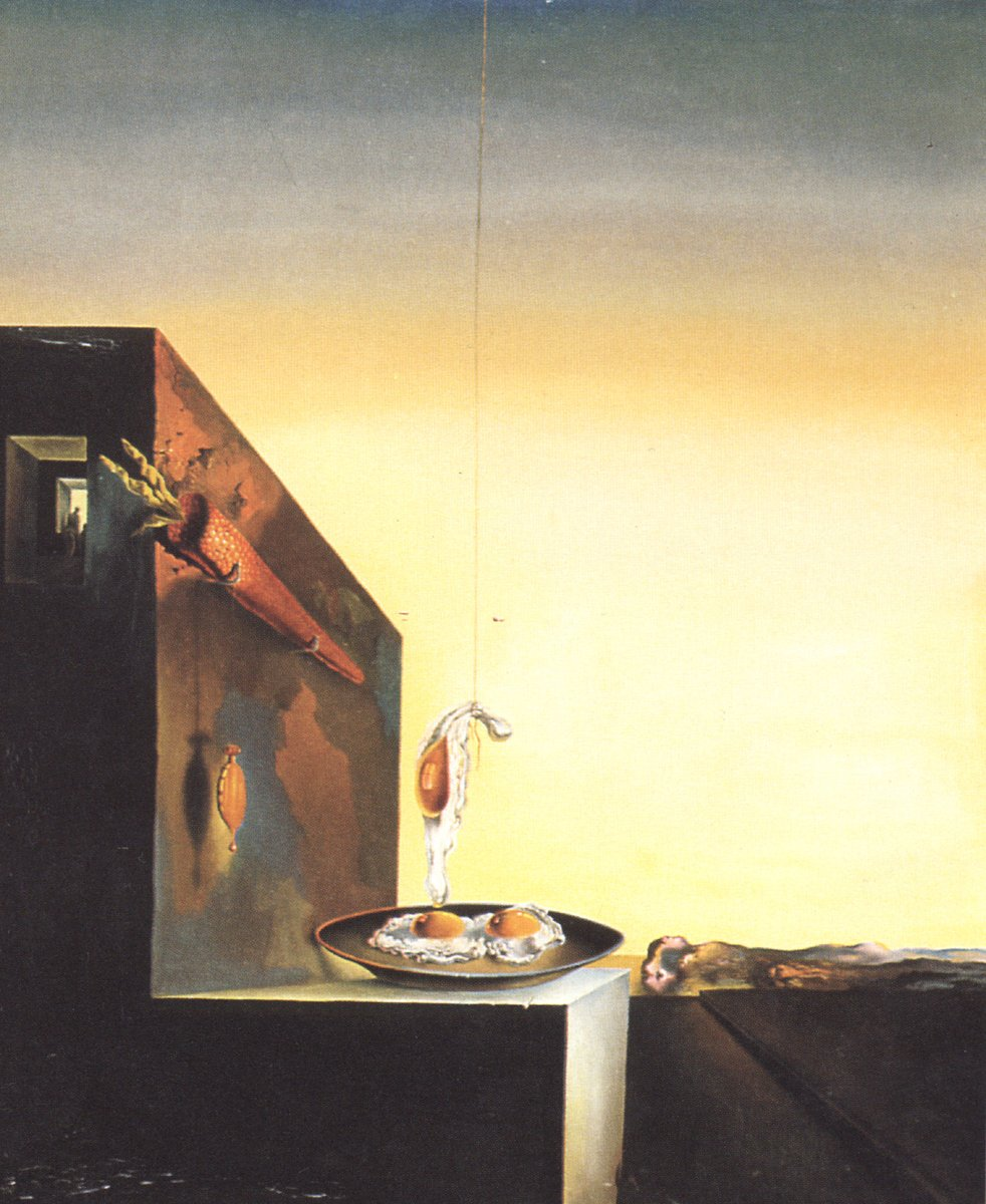 Eggs on Plate without the Flat, 1932 #dali #surrealism