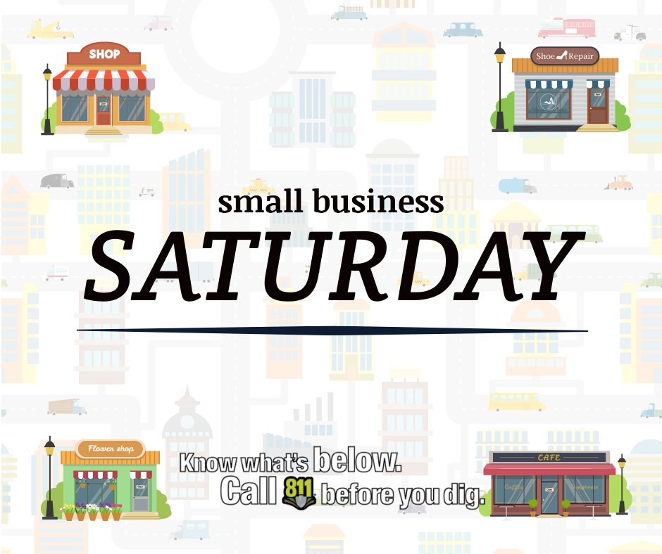 Between Black Friday and Cyber Monday lies Small Business Saturday. SC811 is a nonprofit, but we…